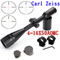 Best 4 16X50 AOMC Glass Reticle gun scope illuminated hunting riflescope with 11mm or 20mm mount