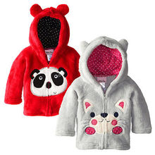 Baby Kid Boys Girls Hoodie Fleece Jacket Child Outerwear Winter Thick Warm Clothes Jacket (China (Mainland))