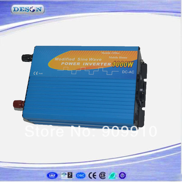 High performance dc to ac power inverter with charger , 1000W 12VDC to 110VAC/120VAC/220VAC/230VAC solar power inverter(China (Mainland))