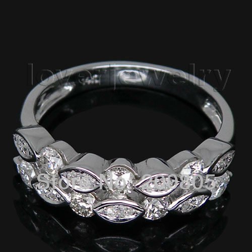 Jewelry Sets Vintage Vintage 14Kt White Gold Natural Diamond Wedding Band Ring YWR150<br><br>Aliexpress