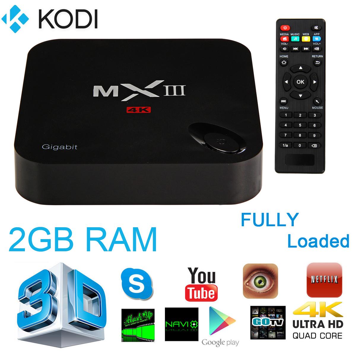 MXIII-G Quad Core HD FULLY LOADED Android 5.1 TV Box WiFi+KODI 15.2 (XBMC) AH115(China (Mainland))