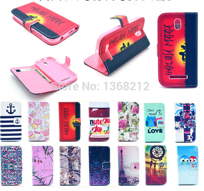 1PCS Owls Flowers Fashion Flip Wallet Stand Cover Cases For HTC Desire 500 506E Luxury PU Leather Cell Phone Cases With Magnetic(China (Mainland))