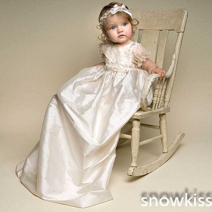 Long Custom Made Lace Baby Girls Boys Blessing Dress With Bonnet Heirloom Dedication Gown Christening gowns vestido de baptizado<br><br>Aliexpress
