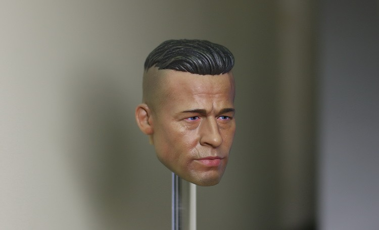 1/6 Head Sculpt Fury Brad Pitt Head Carved Mannequin Toys For 12″ Male Motion Determine Doll Physique Equipment
