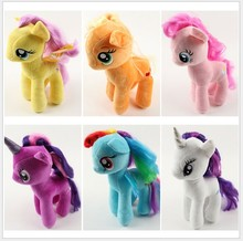 18cm Cartoon Kids my TV Rainbow little Animal Little Horse Stuffed Doll Plush poni Toys Kids Birthday Gifts Wholesale(China (Mainland))