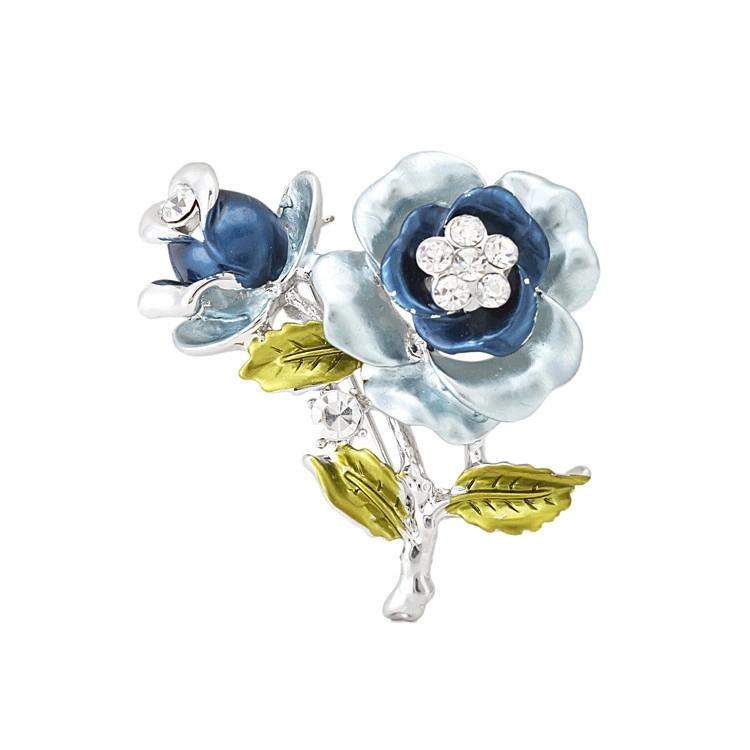 1 New Brooches Pretty Crystal Fashion Brooch Gift Women YB-23032 - Jinhua Yiya Jewelry Co., Ltd. store