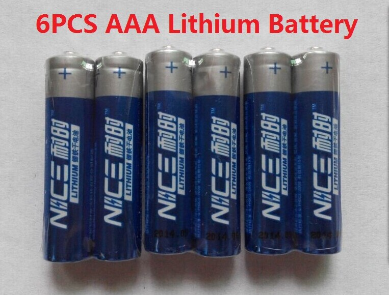 6pcs/lot Brand New NICE SUPER Lithium 1.5V Powerful AA battery li-ion batery Good price and quality.15-year shelf life<br><br>Aliexpress