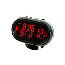 Цифровой 12 В автомобиля напряжения жк-термометр температуры жк монитора метр детектор из светодиодов дисплей ( 3 цветов для варианта )