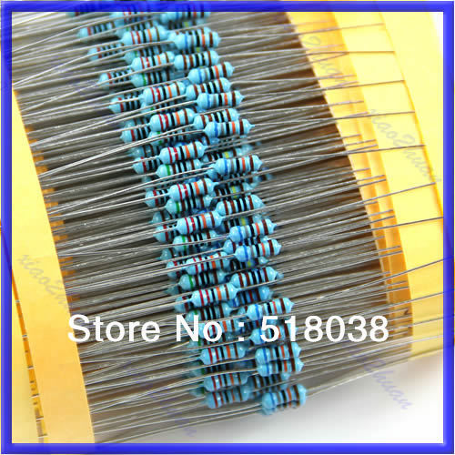 A25Free Shipping 30 Kind 1 4W Resistance 1 Metal Film Resistor Assorted Kit Each 20 Total