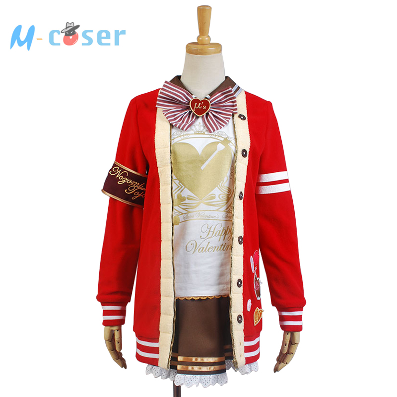 LoveLive! Love Live Valentine's Day Maki Nishikino Uniform Halloween Christmas Cosplay Costume For Women Girls