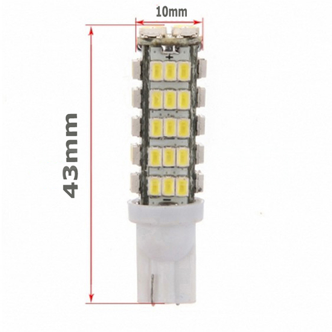 T10 68LED 1206 68 SMD LED Car T10 68smd 1206 3020 W5W 194 927 161 Side