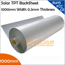 5 Meter/lot Wholesale Solar Back Sheet, 1000mm Width 0.3mm Thickness Solar TPT Back Sheet for Solar Panel Ensapsulation, TUV, CE(China (Mainland))