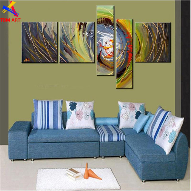 TBM ART Vivid Color Hand painted Modern Abstract Oil Painting on Canvas Wall Art Gift No Framed  for Living Room Decoration Z070