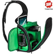 2016 Nueva Moda SLR Cámara Sling Bag Mochila Bolsa para Marca de la cámara Fotografía Cámara de Vídeo Foto Bolsa de Cuero DSLR Cámara bolsa