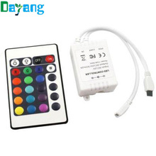 24 key IR remote control and IR receiver for RGB led strip(China (Mainland))