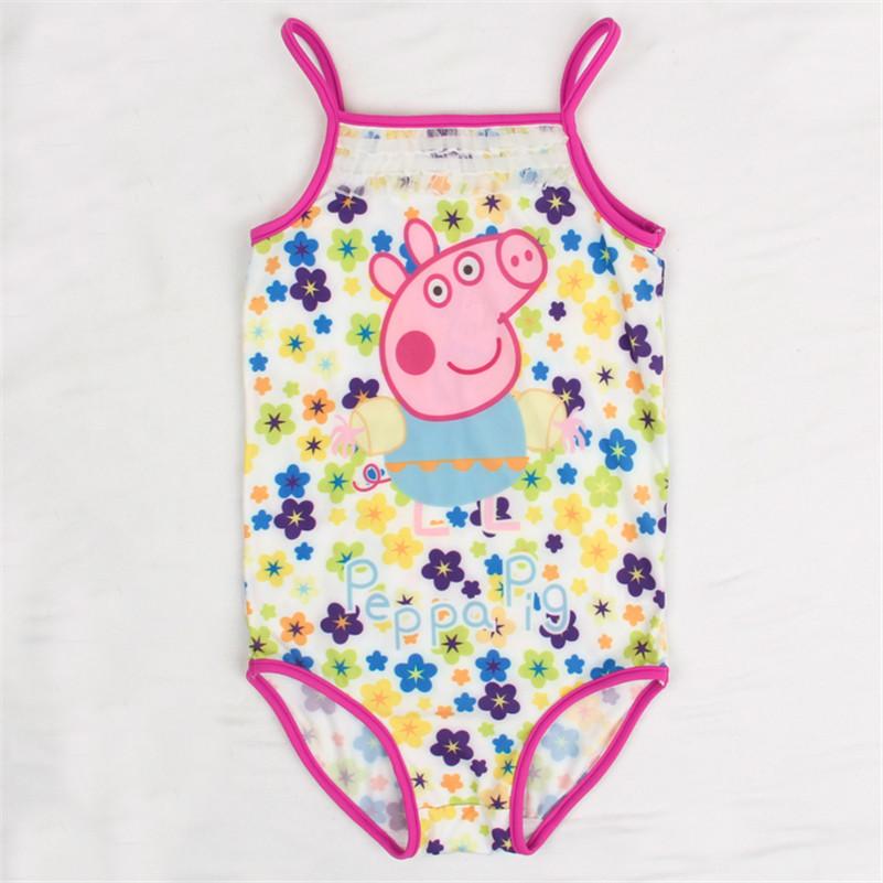girl swimwear 2016 one piece swimsuit girls beach wear sling swimwear Nova baby girl swimming clothes pig swimwear(China (Mainland))