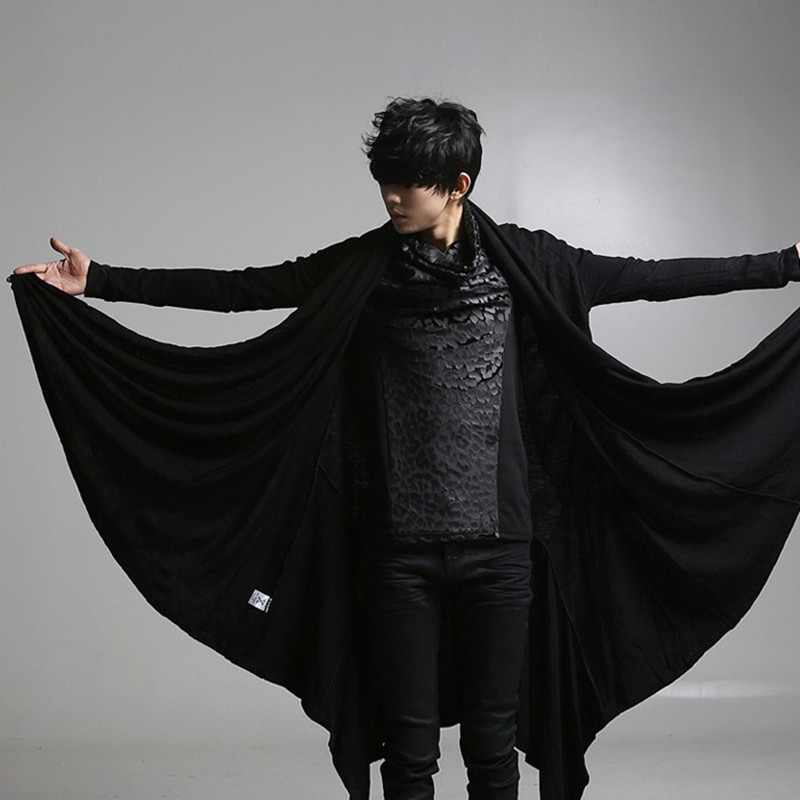 Images of Long Black Coat Mens - Reikian
