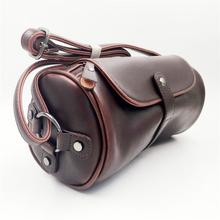 Men Cylinder Handbags Fashion Vintage Style Shoulder Crossbody Bags Top Leather Messenger Bags For Boyfriend Husband XKB33#