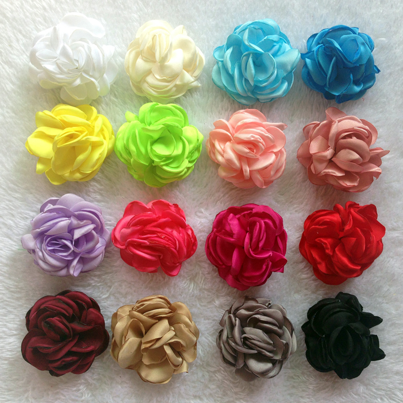 160pcs/lot Grilled Chiffon Flowers lady Women NO CLIP Hair Bows kid accessories Dress hat shoes hair accessory<br><br>Aliexpress