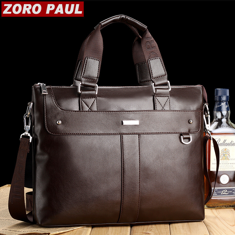 New Men Casual Briefcase Business Shoulder Genuine Leather Bag Men Messenger Bags Computer Laptop Bags Men's Travel Bags(China (Mainland))