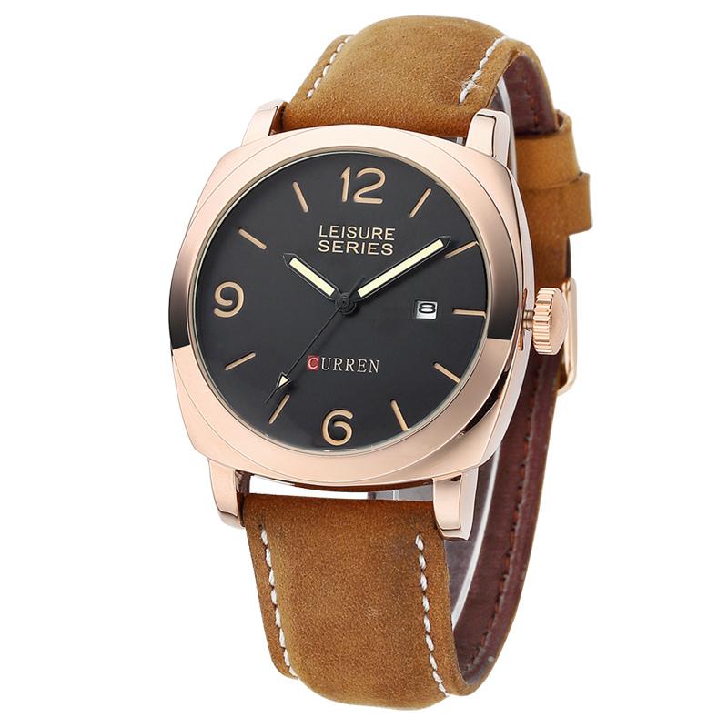 CURREN 8158 Luxury Brand Genuine Leather Strap Analog Date Men's Quartz Watch Casual Watches Men Wristwatch relogio masculino(China (Mainland))