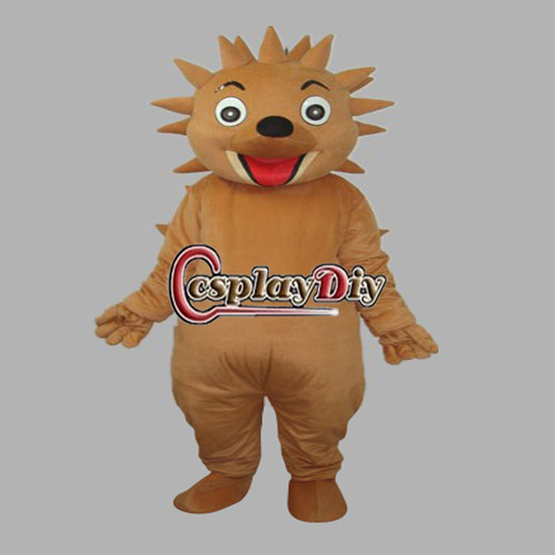 Hot Sale New Arrival Smiling Hedgehog Plush Adult Animal Mascot Costume for Christmas(China (Mainland))