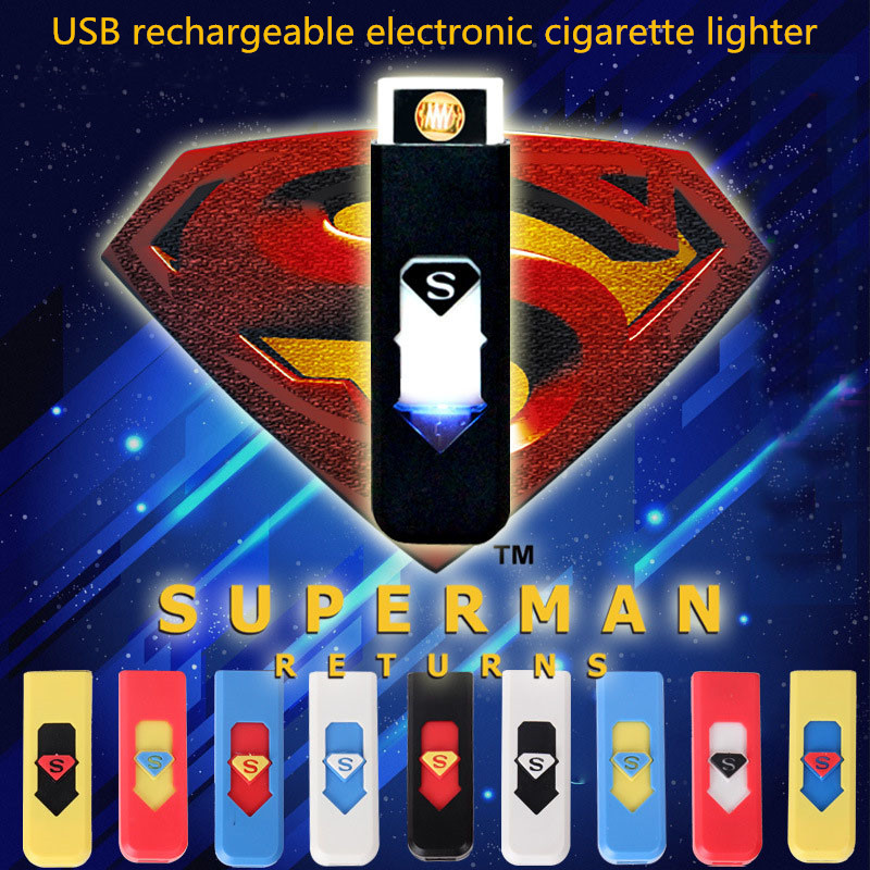 Novelty Electronic Tobacco Cigarette Lighter Cigar URechargeable Flameless USB Electronic Cigarette lighter Windproof Lighter(China (Mainland))