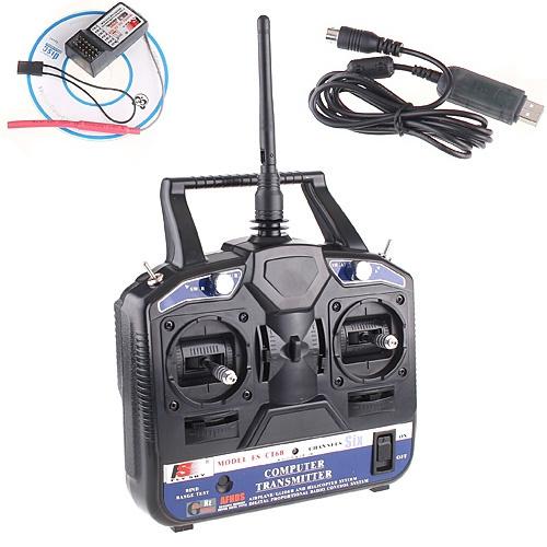 Здесь можно купить  New Hot FS-CT6B 2.4GHz 6CH Transmitter + Receiver System for RC Helicopter Model Free shipping  Игрушки и Хобби