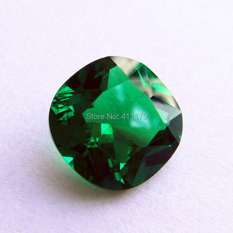 squared faceted emerald stone bead created inexpensive brilliant emerald loose gemstones diy jewelry beads excellent flawless(China (Mainland))
