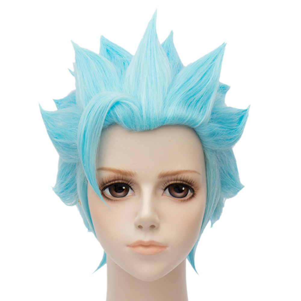 Foxs Sin Of Greed Hot Light Blue Anime Cosplay Full Hair Wigs Short Party<br><br>Aliexpress