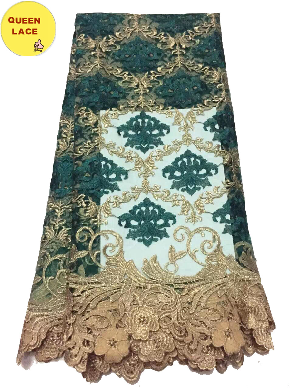 Nigerian French Lace Styles Nigeria Cord Wedding Lace Embroidered Tulle Lace Fabric For Lady Dresses(China (Mainland))