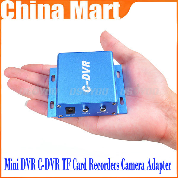 Mini DVR C-DVR TF Card Recorders Camera Adapter CCTV Support 32GB SD Card Free Shipping + Drop Shipping(China (Mainland))