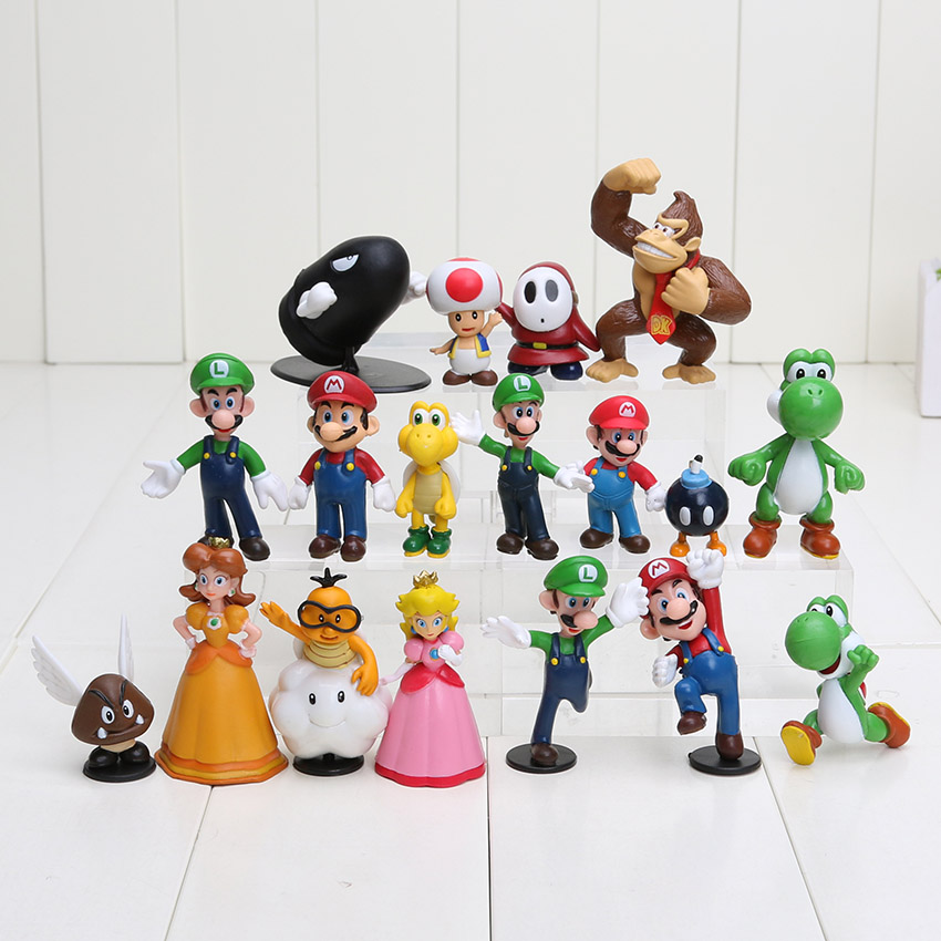 Super Mario Bros 1 inch-2.5 inch Yoshi Dinosaur Figure toy 1Super PVC Action Figures - Amelie store