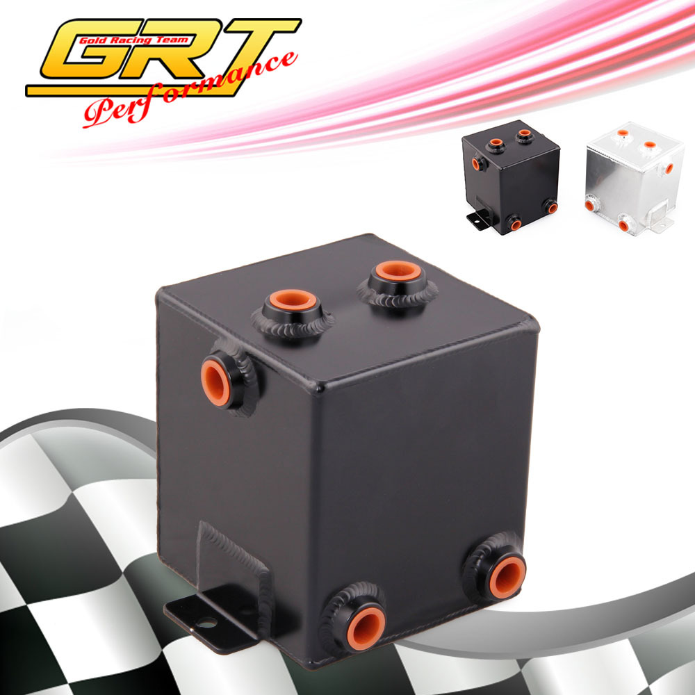 GRT - Aaluminum universal fuel surge tank&fuel cell&oil tank 2L for universal car model(China (Mainland))