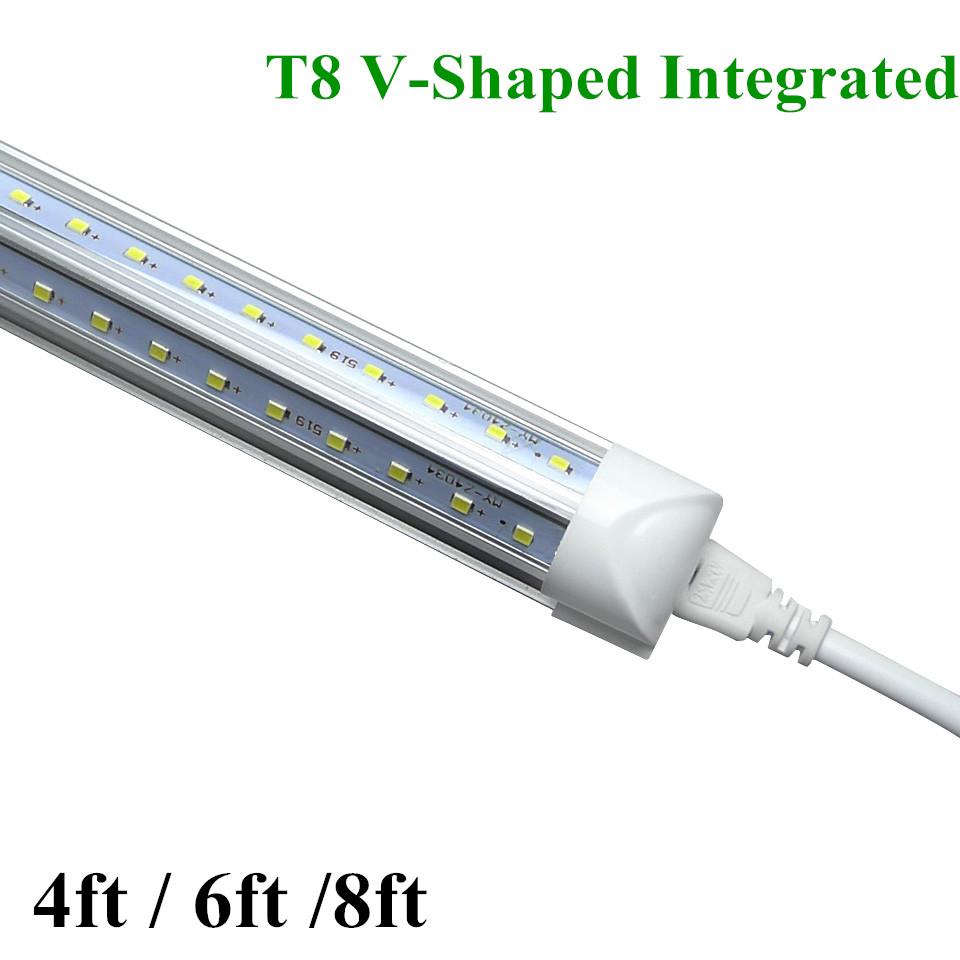 buy 25pcs led t8 integrated tube 4ft 6ft 8ft v shaped led tubes light warm. Black Bedroom Furniture Sets. Home Design Ideas