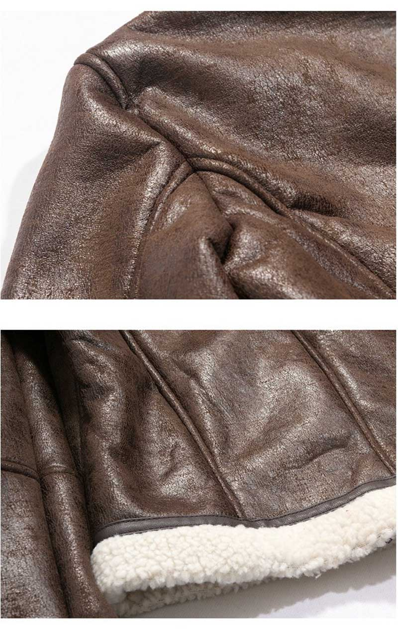 suede leather faux lamb leather lining coffee 06