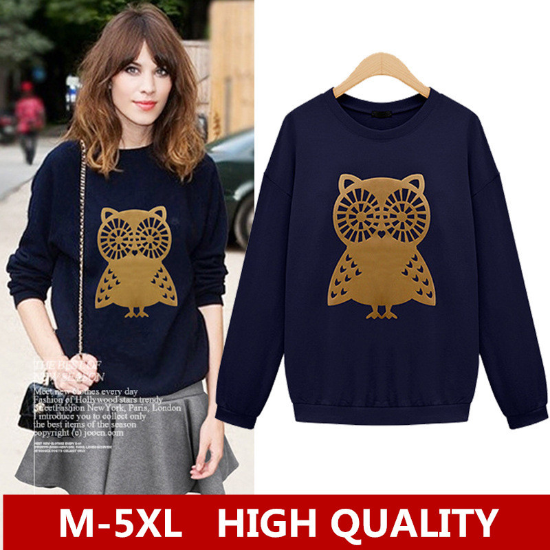 2014 new autumn plus size women clothing XXXXL 5XL fashion animal print t shirt women casual blusas femininas printed Tops()