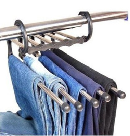 seen on TV Hot sell Magic trousers hanger/rack multifunction pants closet hangerrack Practical and convenient Free shipping(China (Mainland))