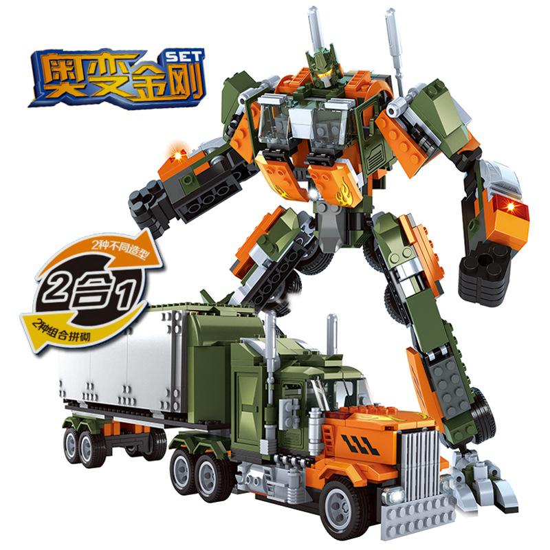 Robot Building Block Sets Compatible with lego deformation Trucks 3D Construction Bricks Educational Hobbies Toys for Kids