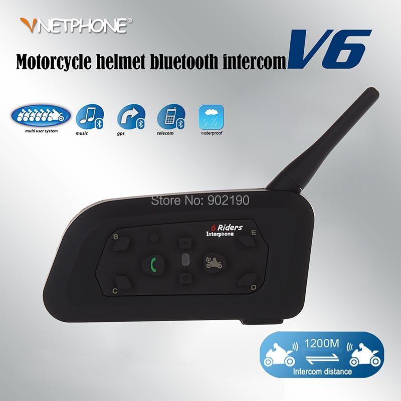 2 x BT 1200M Motorcycle Helmet Bluetooth Intercom Headset Connects upto 6 riders support GPS/MP3 Vnetphone - Shenzhen Netphone Technology Co., Ltd. store