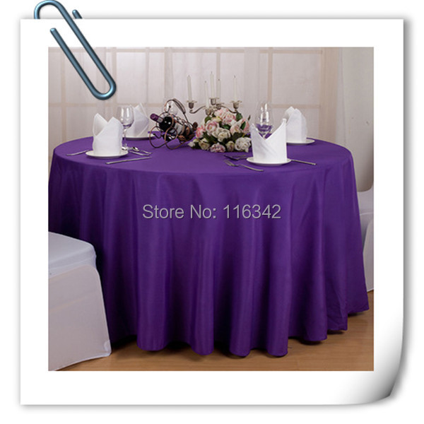 Big Discount !! 20 pieces 70 '' round purple polyester table cloth/table linens for wedding party decoratin Free Shipping(China (Mainland))