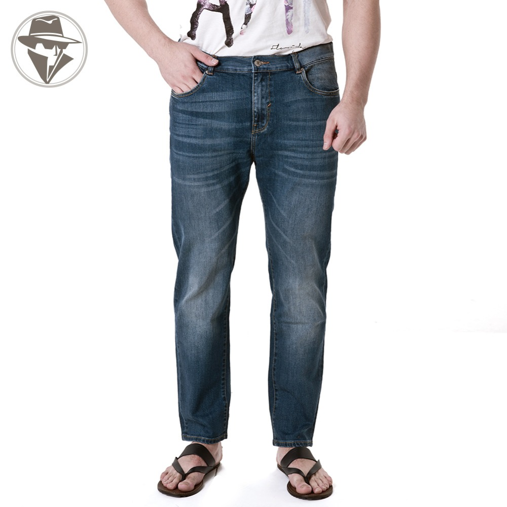 Leepen Modern Plus Size 36-52 Men's Jeans Big & Tall Slim Fit Whiteout Knitted Robin Men LP1010