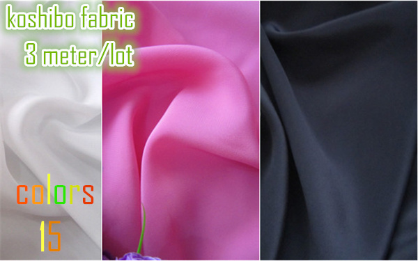 koshibo fabric (3 meters/lot) wholesale price 15 colors dyed polyester imitated silk fabric for Performance Dance clothing(China (Mainland))