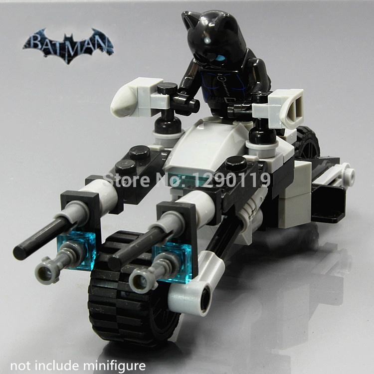 MOC 77pcs Cat-Woman Motocycle BatGirl BATMAN Super Heroes Arkham Knight DIY Model Building Blocks minifig Kids Toys Gift(China (Mainland))