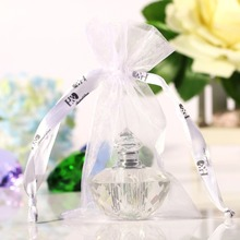 2ML 2inch Unique Mini Clear Crystal Glass Woman Perfume Bottle Empty Art Travel Bottle Refillable Container Wedding Lady Gift(China (Mainland))