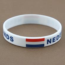 5pcs HOT Silicone Bracelets For Men Rubber National Flag Sport Wristband Cuff Bangle Basketball Movement Power Bracelet Jewelry (China (Mainland))