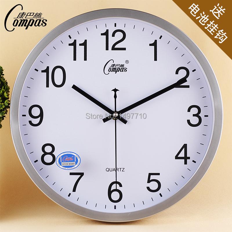 Compas 12 Inches Luminous Fashion IKEA Living Room Wall Clock Minimalist Offi