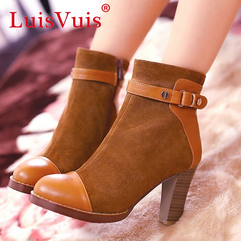 Free shipping half ankle short natrual real genuine leather flat boots women snow warm boot shoes CooLcept  R1199 EUR size 34-39<br><br>Aliexpress
