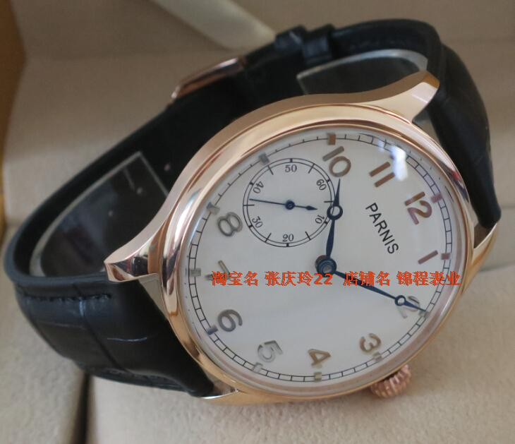 PARNIS watch the seagulls ST3600/6497 gooseneck core plating Rose gold watchcase onion manual mechanical men's watch