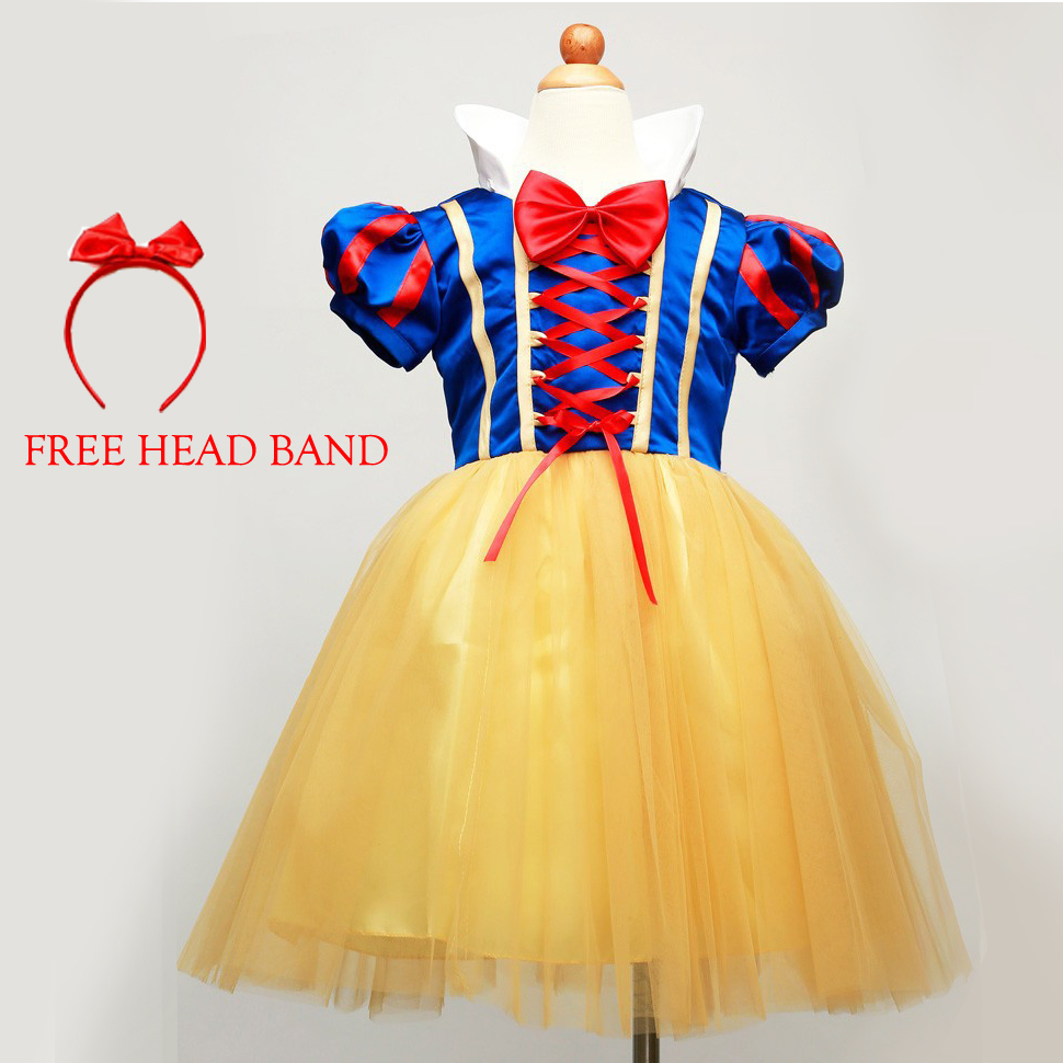 Snow white Dress kids infant party dress girl costume vestido infantil de festa meninas Blancanieve fantasia de princesa disfraz(China (Mainland))